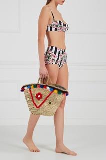 Плетеная сумка-корзинка Sisily Medium Micaela Spadoni