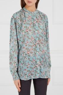 Хлопковая блузка с принтом Isabel Marant Etoile