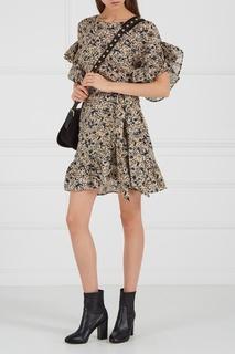 Льняное платье с оборками Isabel Marant Etoile