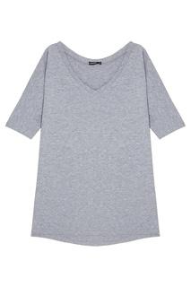 Меланжевая футболка с V-вырезом Manouk