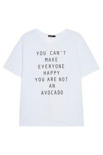 Хлопковая футболка с надписью Manouk