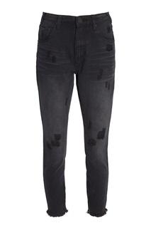 Черные джинсы с потертостями One Teaspoon