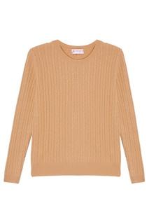 Бежевый свитер с косами Mixer