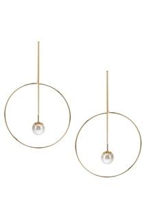 Серьги-цепочки с кольцами золотистые Exclaim