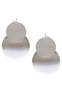 Серебристые серьги-диски Exclaim