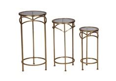 Набор из 3 столиков - металл Colibri