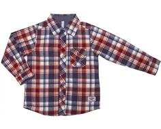Рубашка для мальчика Barkito «Ковбой», бежевая с рисунком «клетка»