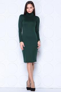Приталенное платье с высоким воротом Laura Bettini