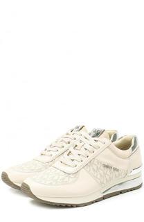 Комбинированные кроссовки с логотипом бренда MICHAEL Michael Kors