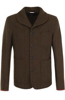 Укороченное пальто из смеси шерсти и шелка Ralph Lauren