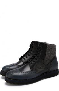 Высокие кожаные ботинки с брогированием W.Gibbs