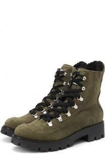 Замшевые ботинки на шнуровке Ermanno Scervino