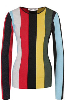 Вязаный пуловер в полоску с круглым вырезом Diane Von Furstenberg