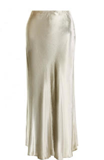 Однотонная бархатная юбка-миди Polo Ralph Lauren
