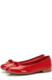 Лаковые балетки с бантами Dolce & Gabbana