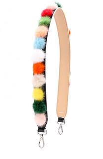 Ремень для сумкис отделкой из меха норки Fendi
