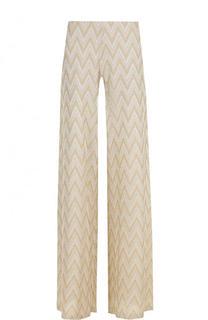 Расклешенные вязаные брюки с принтом M Missoni