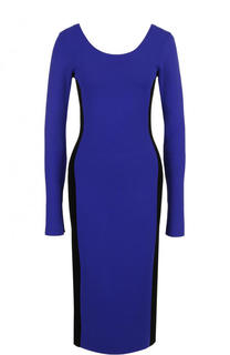 Платье-миди с длинным рукавом и круглым вырезом Diane Von Furstenberg