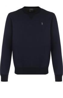 Хлопковый свитшот с логотипом бренда Polo Ralph Lauren