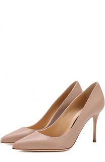 Кожаные туфли на шпильке Sergio Rossi