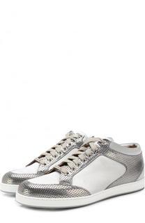 Комбинированные кеды Miami на шнуровке Jimmy Choo