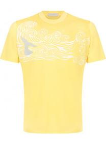 Хлопковая футболка с принтом Cortigiani