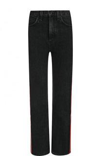 Укороченные джинсы с контрастными лампасами и потертостями Rag&Bone Rag&Bone