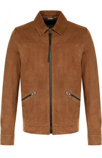 Замшевая куртка на молнии Lanvin