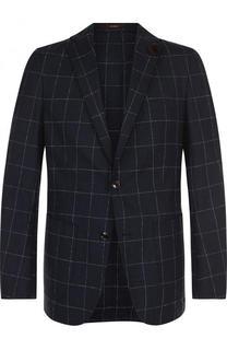 Однобортный шерстяной пиджак в клетку Windsor