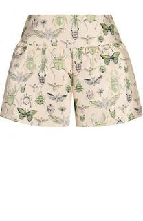 Мини-шорты с принтом и карманами REDVALENTINO
