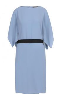 Однотонное платье-миди с контрастным поясом Windsor