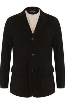 Однобортный замшевый пиджак Kiton