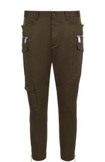 Хлопковые укороченные брюки карго Dsquared2