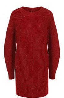 Мини-платье фактурной вязки из смеси шерсти и кашемира Burberry