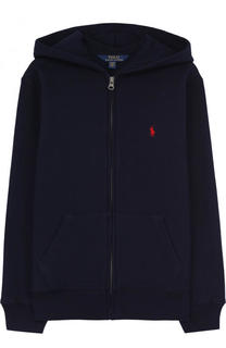 Спортивный кардиган из хлопка с капюшоном Polo Ralph Lauren