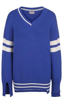 Пуловер свободного кроя с V-образным вырезом MRZ