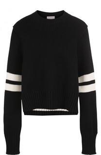 Укороченный пуловер свободного кроя с круглым вырезом MRZ