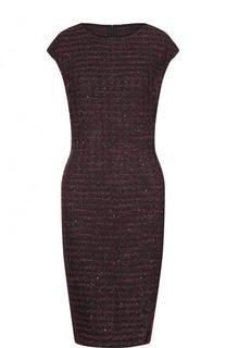 Приталенное буклированное мини-платье St. John
