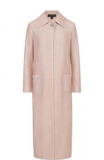 Удлиненное буклированное пальто с накладными карманами St. John