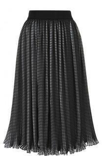 Плиссированная юбка-миди с широким поясом Alice + Olivia