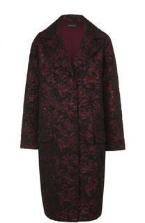 Жаккардовое пальто свободного кроя St. John