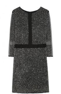 Приталенное мини-платье с укороченными рукавами Basix Black Label