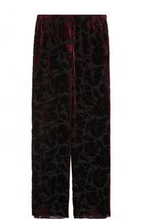 Широкие бархатные брюки с эластичным поясом St. John