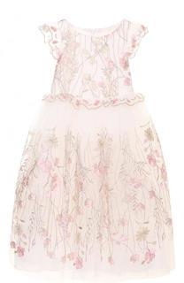 Многослойное платье с вышивкой и оборками David Charles