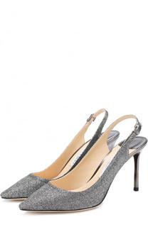 Туфли Erin 85 из металлизированного текстиля на шпильке Jimmy Choo