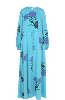 Шелковое платье-маки с цветочным принтом Diane Von Furstenberg