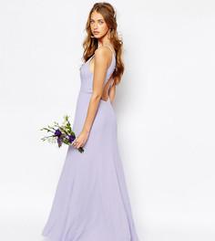 Асимметричное платье макси с вырезом капелькой Fame and Partners Nevada - Фиолетовый