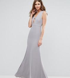Платье макси Fame And Partners Tall - Серый