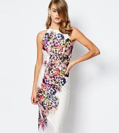 Платье миди с халтером и цветочным узором True Violet - Мульти
