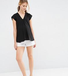 Льняные шорты‑трапеция для беременных ASOS Maternity - Белый